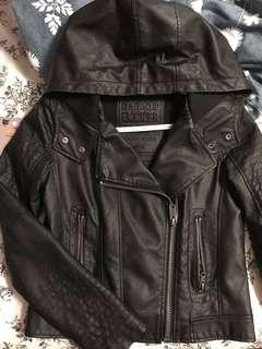 Garage faux leather biker jacket