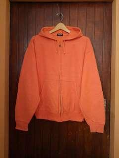 Uniqlo Orange ZipHoodie sz L