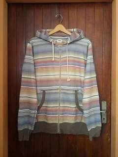 Uniqlo stripe ZipHoodie sz XL