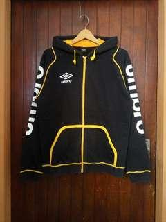 Umbro Black Yellow ZipHoodie sz fit M