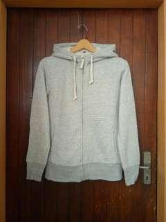 Uniqlo Grey Pile Lined ZipHoodie sz M