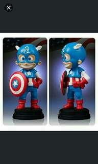 "Marvel Comics ~ CAPTAIN AMERICA ~ 4 1/2"" Animated Statue by Gentle Giant"