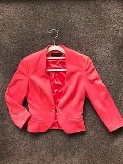 David Lawrence Coral Blazor Jacket (size 6)
