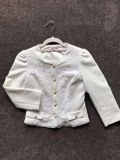 Review white lace jacket (size 6)