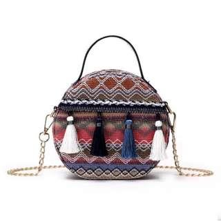 Round Tassel Chain Bag #XMAS25