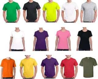 Plan coloured t shirts