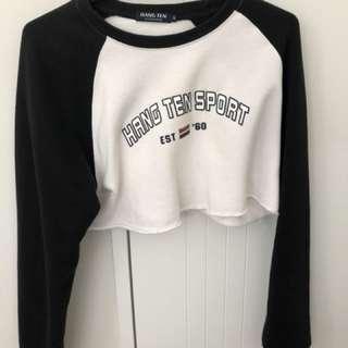 Cropped vintage jumper
