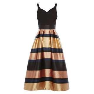 Rita metallic strip dress