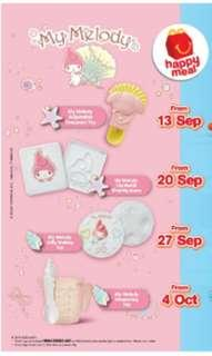 My Melody Happy Meal Mcd
