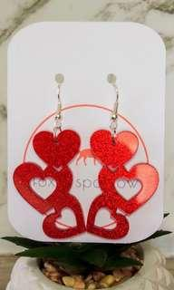 PARIS acrylic heart dangles