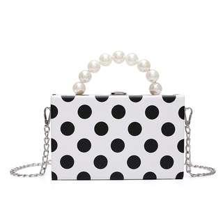 Polka Pearl Handle Bag