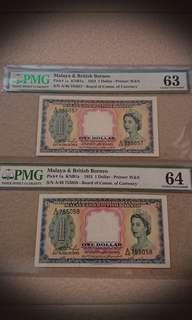 Running Pair Malaya 1953 $1