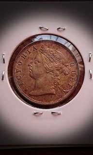 Uncirculated Queen Victoria Silver 20 Cents