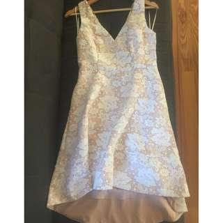 Gorgeous worn once Portmans Signature blush lace hilo dress sz 10 great for races