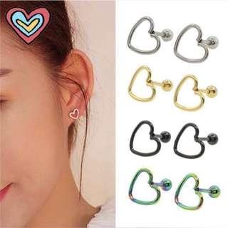 Heart Plain Earrings