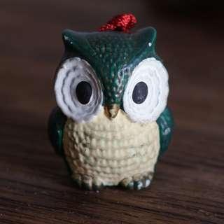 🚚 Green Owl Windchime