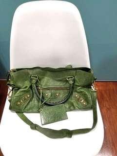 balenciaga green bag