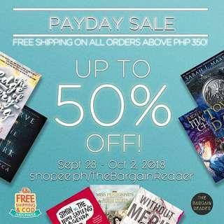 Payday Sale! Up to 50% off on brand new books with FREE NATIONWIDE shipping!