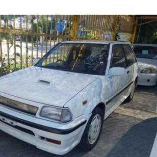 TOYOTA STARLET 1989 1300cc 白色  罕有經典跑車 原廠皮位