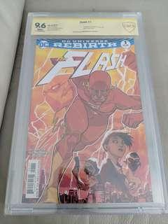 Flash Rebirth #2 signed by Ezra Miller CBCS 9.6