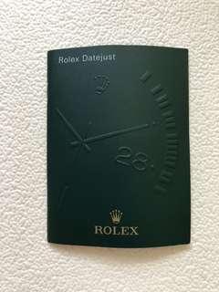 Rolex datejust booklet
