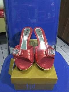 Sepatu Heels Pesta Red #onlinesale