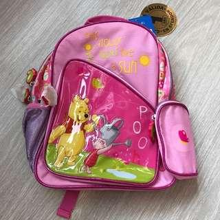 BRAND NEW Original Disney Winnie The Pooh Pink Pretty Backpack With Four Compartments