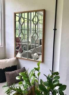 Mirror with white antique grilles from Holland