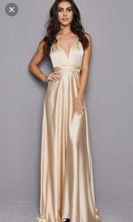 Multiway gold dress
