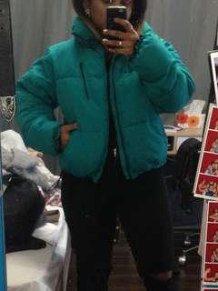 Turquoise puffer jacket