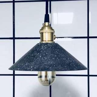 水泥/水磨石吊燈,直徑約20cm