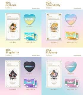[sharing] bts love yourself intro enamel badges