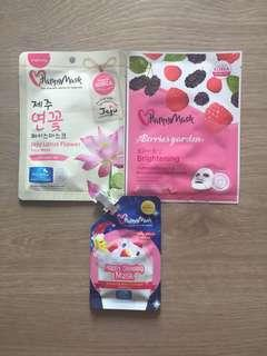 Happy Masks Facial Mask x 3