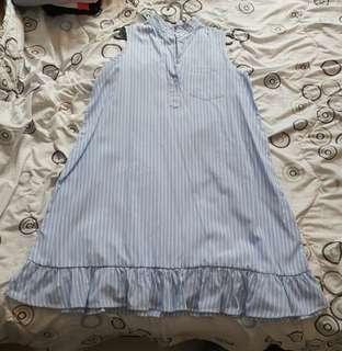 Preloved blue/white stripes dress