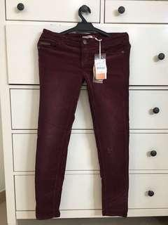 Maroon Skinny Jeans in UK12