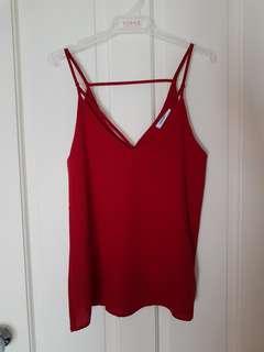 Red singlet top