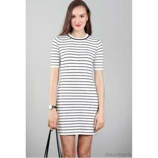 e64942c33a Hollyhoque Jocia Stripe Dress in Navy