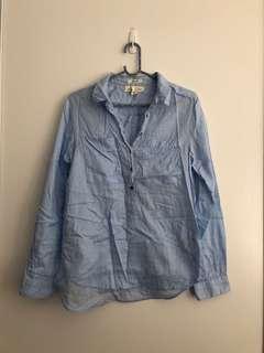 H&M blue blouse