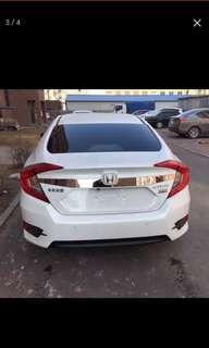 2016-2018 Honda Civic 1.8vtec-1.5tcp rear chrome plate (Used)