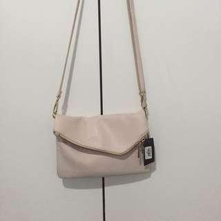 [PRELOVED - S] SLING BAG ZALORA in BEIGE