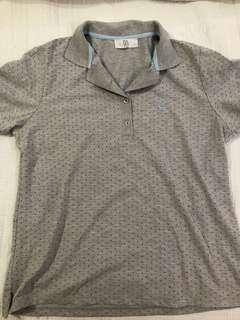 Bayo Grey with Polka dot Polo shirt