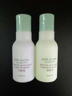 🚚 June Jacobs Green Tea and Cucumber Travel Soap set