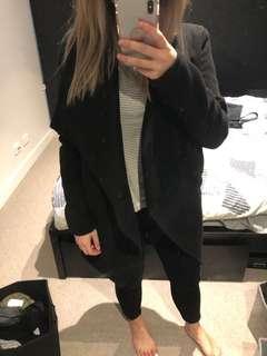 Black waterfall coat/jacket