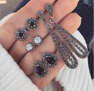 'Eugenia' Elegant Vintage Inspired Earrings Set