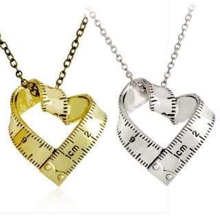 'Desiree' Unique Ruler 'Love' Charm Necklace
