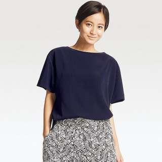 Uniqlo Drape T Blouse black