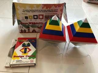 Authentic Wedgits Building blocks with Design Cards