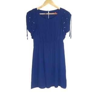 [COD] Korean Royal Blue Fashion Dress [M-L] Women's Classic Dress