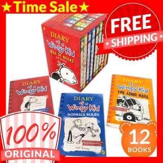[ORIGINAL] Diary of a Wimpy Kid Box Set (12 Books)