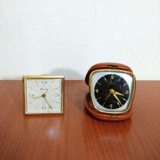 早期摩登時代 美好時光 vintage 德國製 旅行用發條鬧鐘